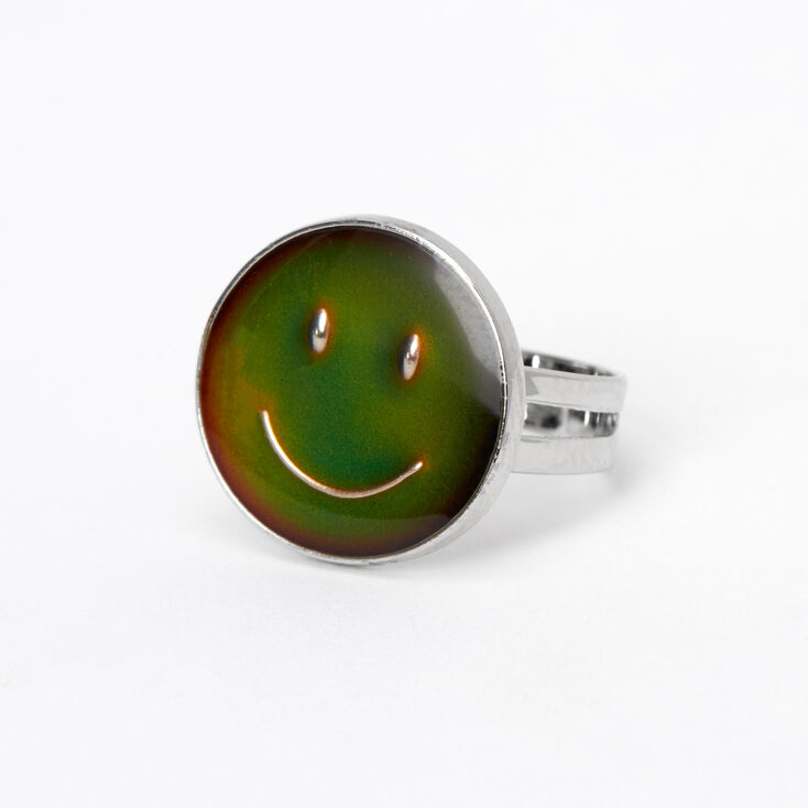 Silver Smiley Face Mood Ring,