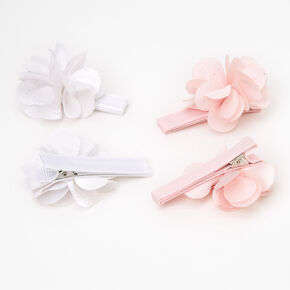 Claire's Club Chiffon Flower Hair Clips - 4 Pack,