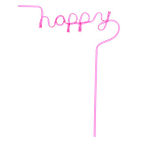 Happy Script Straw - Pink,