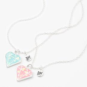 Best Friends Glow in the Dark Diamond Pendant Necklaces - 2 Pack,
