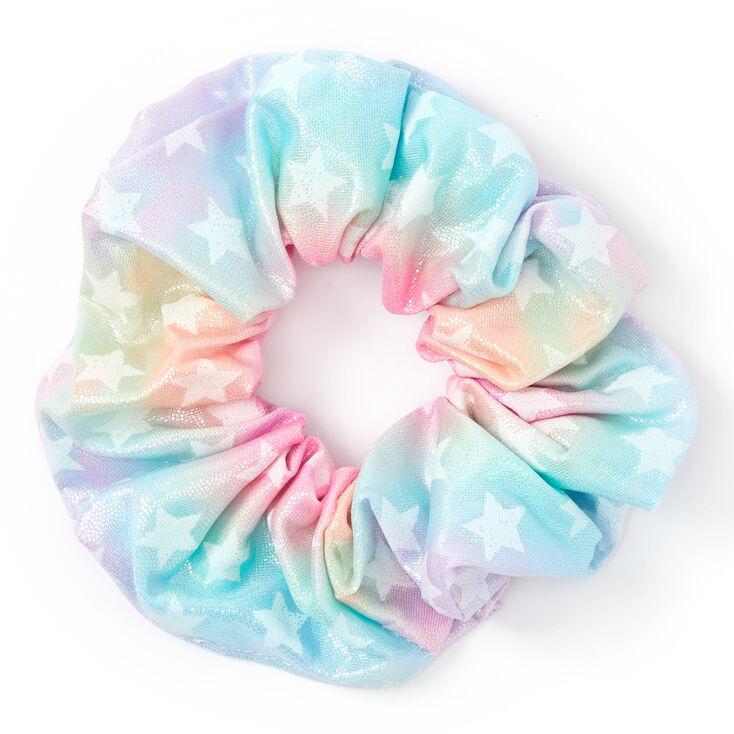 Medium Pastel Star Hair Scrunchie,