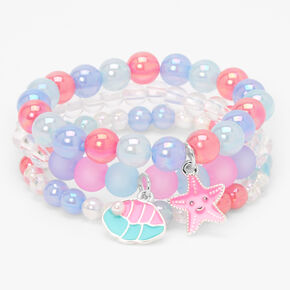 Claire's Club Mermaid Beaded Stretch Bracelets - 3 Pack,