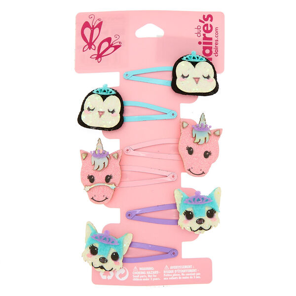 Claire's - club critter snap hair clips - 1