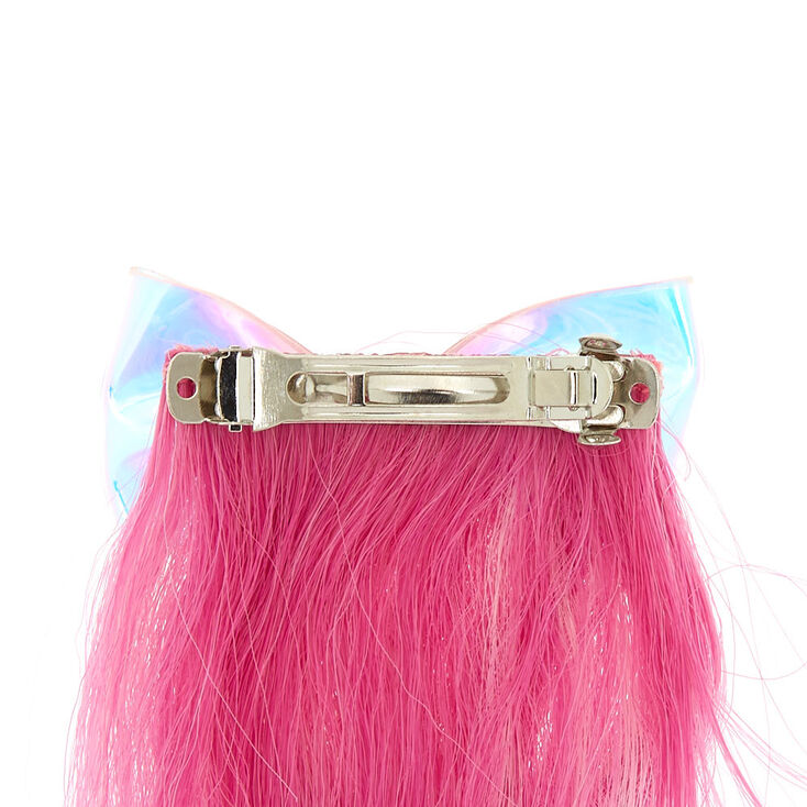 Claire's Club Glow In The Dark Faux Hair Barrette,