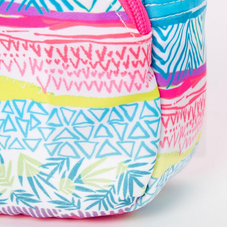 Tropical Aztec Mini Backpack Crossbody Bag,