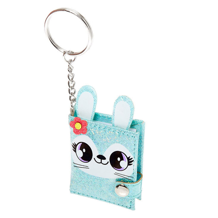 Jade the Bunny Mini Diary Keychain - Mint,