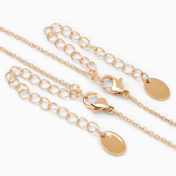 Best Friends Glitter Butterfly Split Heart Necklaces - 2 Pack,