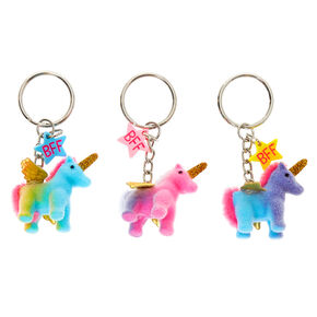 Ombre Flying Unicorn Best Friends Keychains - 3 Pack,