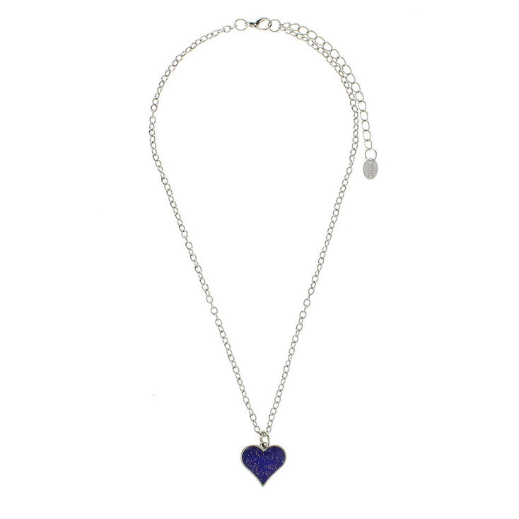 Heart shaped mood pendant necklace claires heart shaped mood pendant necklace aloadofball Gallery