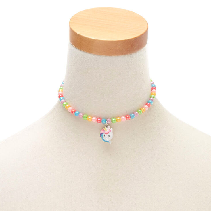 Claire's Club Rainbow Unicorn Beaded Jewellery Set - 2 Pack,