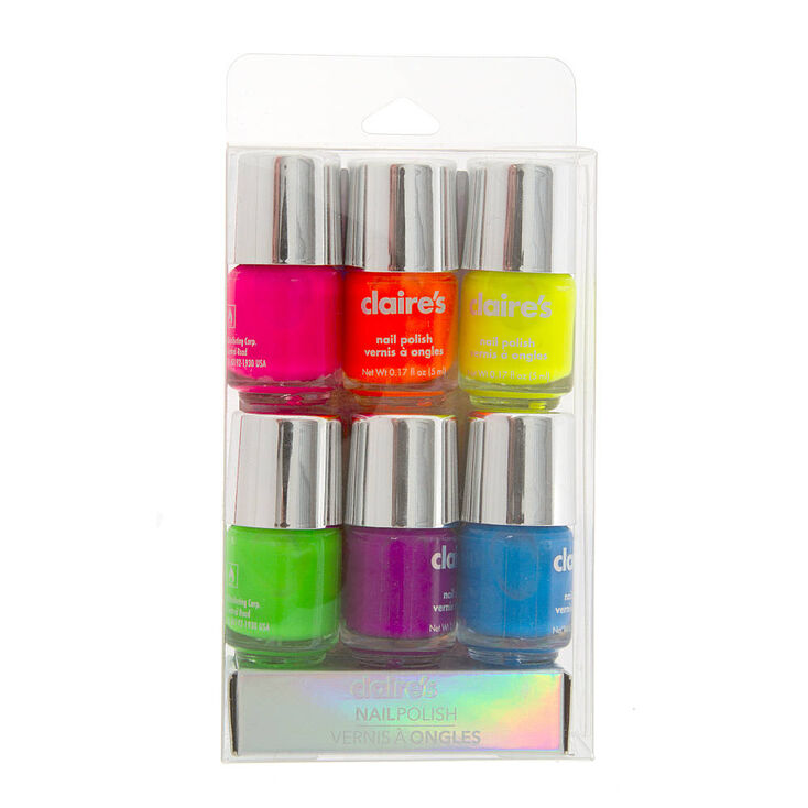 Neon Nail Polish Pack 5 | Claire\'s US