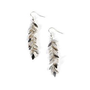 Linear Leaf Drop Earrings,