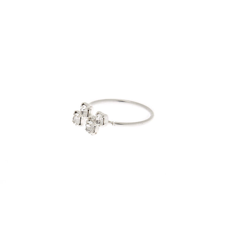 Sterling Silver 22g Zig Zag Nose Ring Claire S Us
