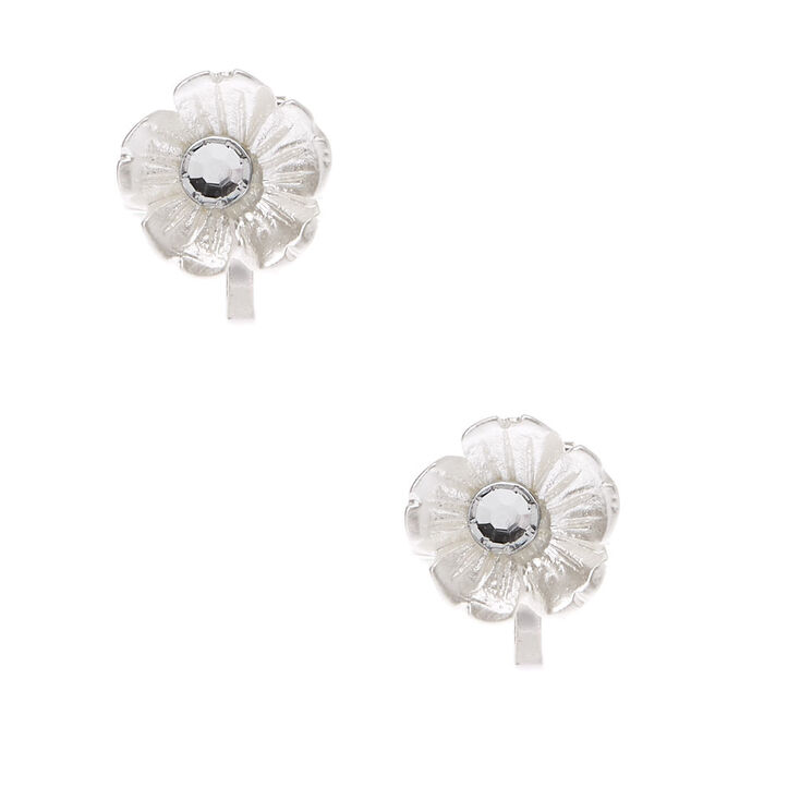 Claire's Club Silver Floral Jewellery Set - 3 Pack,