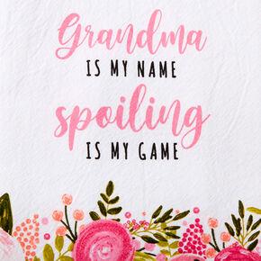 Grandma Spoiling Floral Hand Towel - White,
