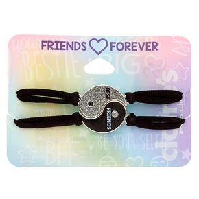 Yin & Yang Stretch Friendship Bracelets - Black, 2 Pack,