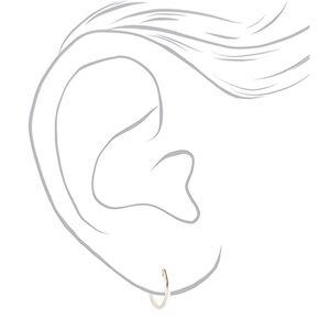 Sterling Silver 12MM Hinge Hoop Earrings,