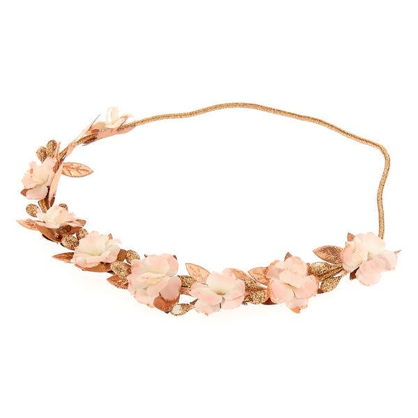 Claire's - mini rose flower headwrap - 1