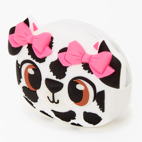 Dalmatian Puppy Jelly Coin Purse - White,