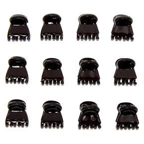 Pinces à cheveux brillantes noires - Lot de 12,