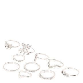 Silver Tone Crown Ring Claires
