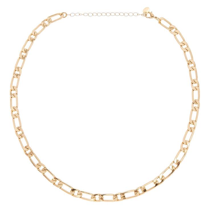 Collier chaîne standard couleur doré,