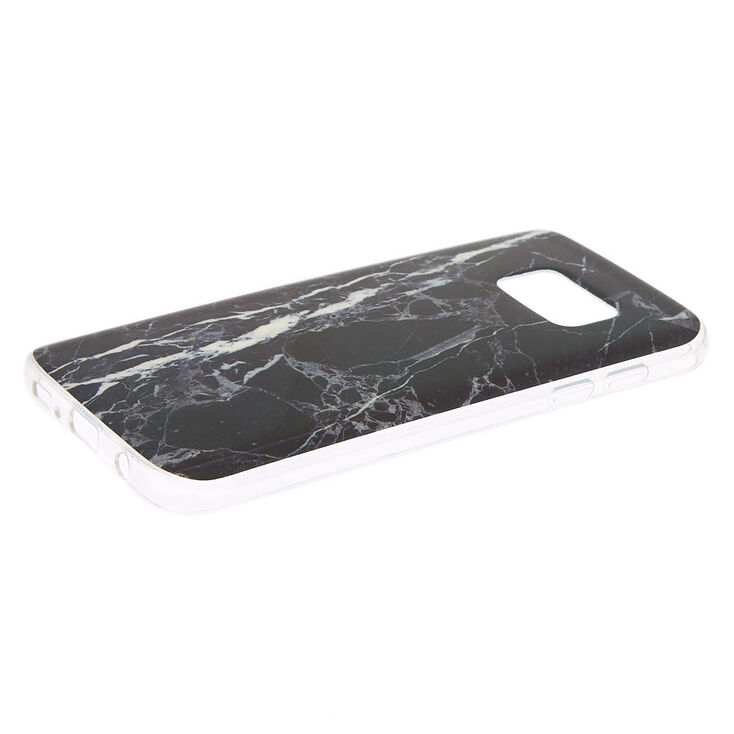 Black Marble Phone Case - Fits Samsung Galaxy S7,
