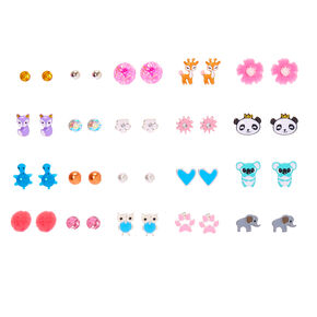 Animal Mix Stud Earrings - 20 Pack,