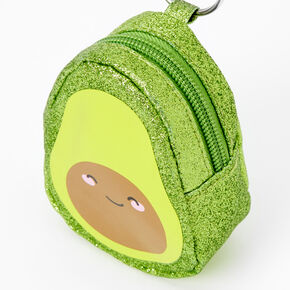 Avocado Mini Backpack Keychain - Green,
