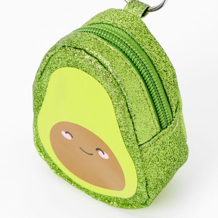 Avocado Mini Backpack Keychain - Green,