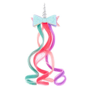 Claire's Club Unicorn Ombre Faux Hair Clip,