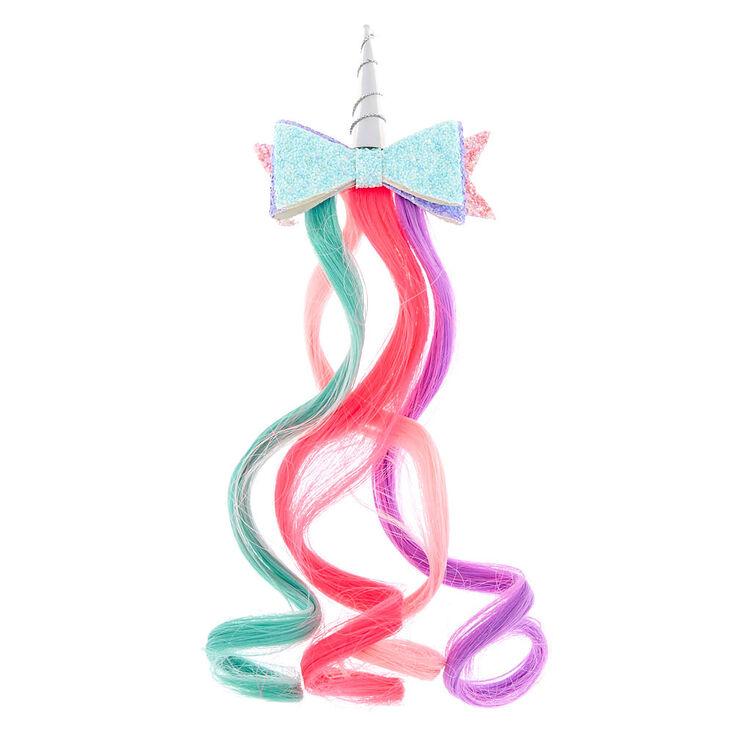 Claire's Club Unicorn Ombre Faux Hair Clip,