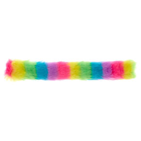 Rainbow Furry Slap Bracelet,