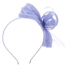 Feather Bow Fascinator Headband - Dusty Blue,