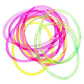 Glitter Jelly Bracelets - 12 Pack,