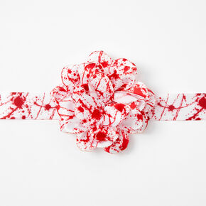 Blood Splatter Flower Choker Necklace,