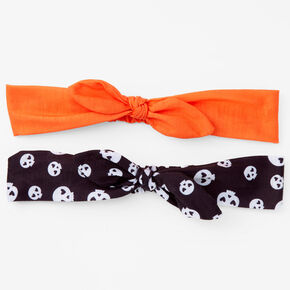 Skeleton Print Knotted Bow Headwraps - 2 Pack,