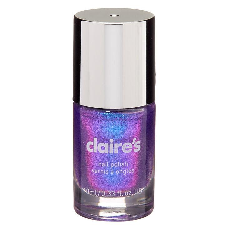 Shimmer Nail Polish - Purple Holo,