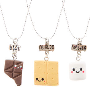 Colliers à pendentif S'more best friends - Lot de 3,