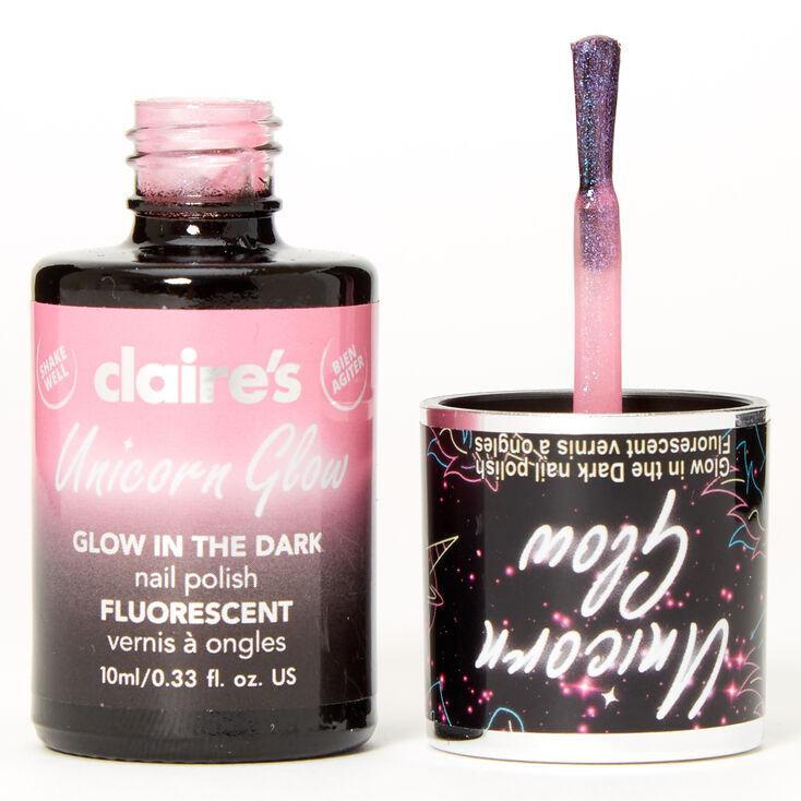 Unicorn Glow In The Dark Nail Polish - Pink,