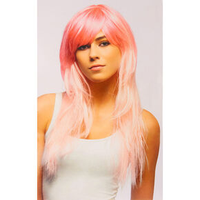 Pink Ombre Style Faux Hair Wig,