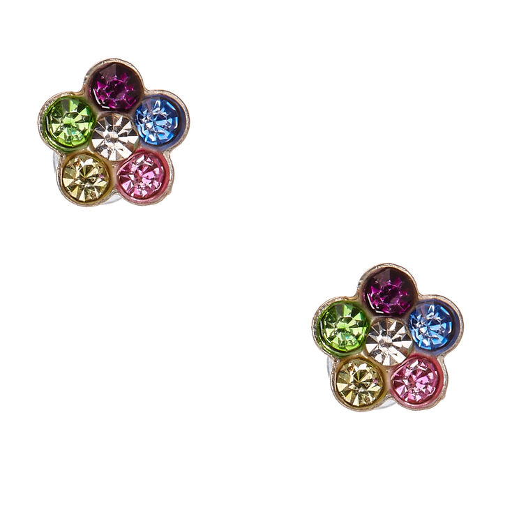 metallic gabbana normal embellished earrings dolce multi gold lyst in crystal product daisy jewelry