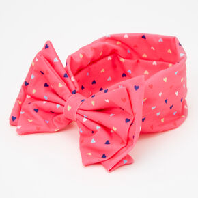 Claire's Club Heart Bow Headwrap - Pink,