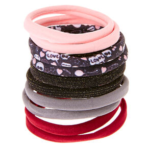 Burgundy Love Rolled Hair Bobbles,