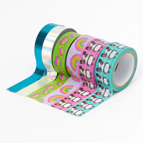 Rainbow Panda Washi Tape Set - 6 Pack,