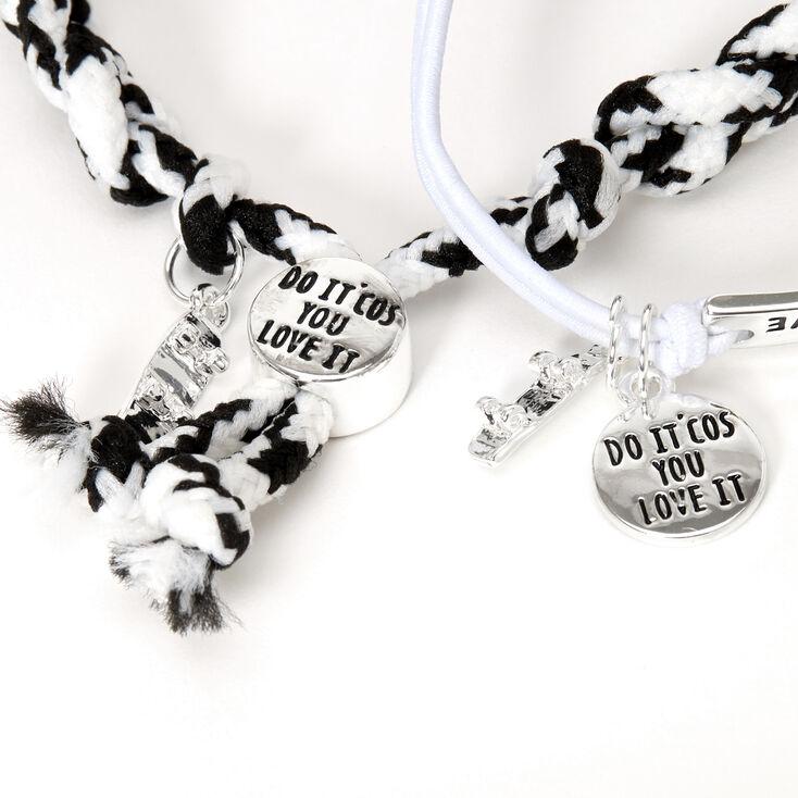 Sky Brown™ Adjustable Braided bracelets – Black, 2 pack,