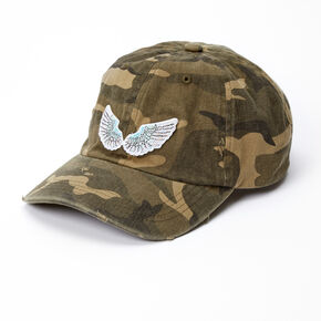 Angel Wing Camo Print Baseball Cap,