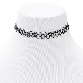 Tattoo Choker Necklace - Black,