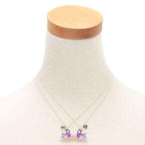 Best Friends Lala the Llamacorn Heart Pendant Necklaces - 2 Pack,