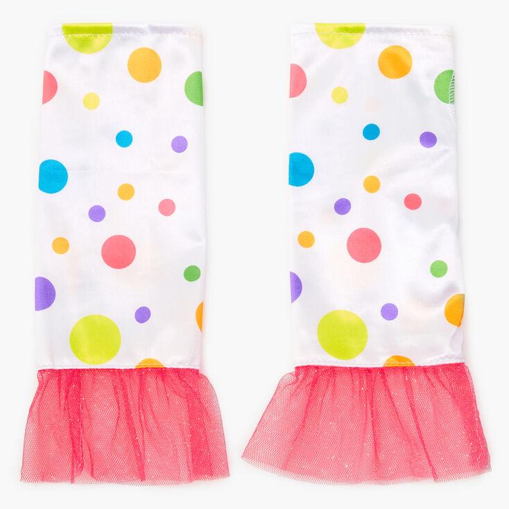 Pastel Polka Dot Fingerless Gloves,